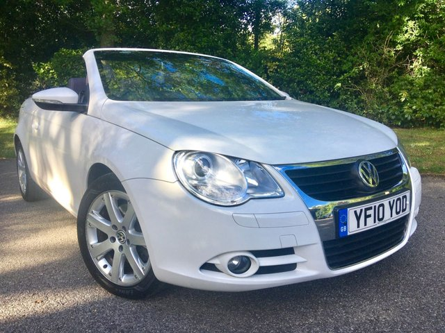 2010 10 VOLKSWAGEN EOS 1.4 SE TSI 2d 160 BHP FULL AUBERGINE LEATHER//1 OWNER SINCE JULY2010