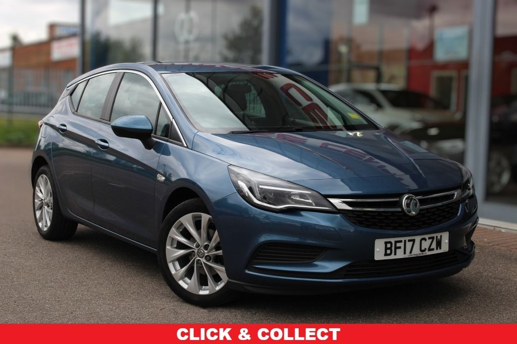 "USED 2017 17 VAUXHALL ASTRA 1.4 DESIGN 5d 123 BHP - EURO 6, DAB, 17"" ALLOYS, CRUISE & BLUETOOTH"