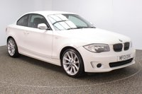 USED 2013 13 BMW 1 SERIES 2.0 118D EXCLUSIVE EDITION 2DR 141 BHP SERVICE HISTORY + £30 12 MONTHS ROAD TAX + HEATED LEATHER SEATS + BLUETOOTH + AIR CONDITIONING + MULTI FUNCTION WHEEL + PRIVACY GLASS + DAB RADIO + ELECTRIC WINDOWS + ELECTRIC MIRRORS + 18 INCH ALLOY WHEELS