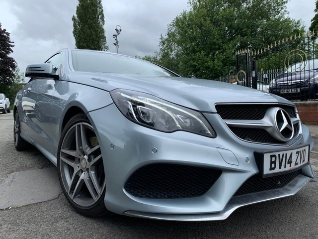 USED 2014 14 MERCEDES-BENZ E-CLASS 2.1 E250 CDI AMG SPORT 2d 204 BHP 1 FORMER KEEPER+2KEYS+CLIMATE+PARKING+NAVIGATION+BLUETOOTH+MEDIA+USB+AUXCRUISE CONTROL+GEAR SHIFT PADDLESCLIMATE CONTROL+LEATHER HEATED SEATS+18 INCH ALLOYS+