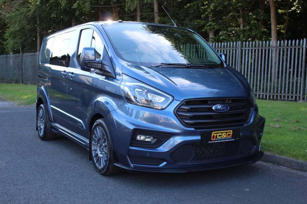 USED 2018 68 FORD TRANSIT CUSTOM 2.0 320 M SPORT MS-RT DCIV L1 H1 168 BHP AUTO A GENUINE ONE OWNER CUSTOM MS-RT 5 SEAT VAN WHICH HAS NO VAT TO BE ADDED!!!