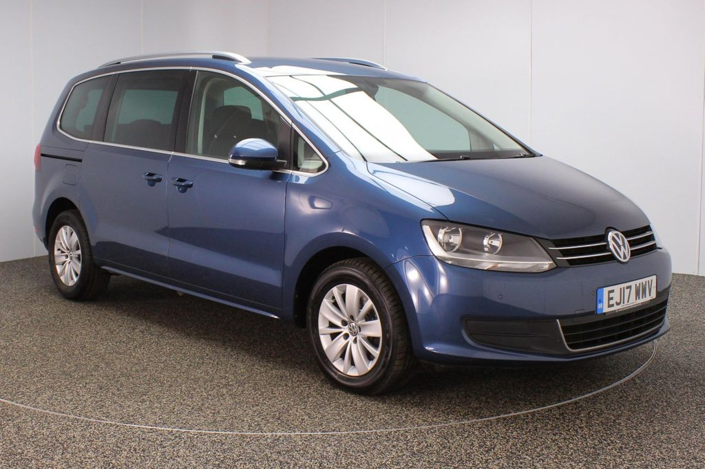 USED 2017 17 VOLKSWAGEN SHARAN 2.0 SE TDI BLUEMOTION TECHNOLOGY DSG 5DR 1 OWNER 7 SEATS AUTO 148 BHP FULL SERVICE HISTORY + 7 SEATS + PARKING SENSOR + BLUETOOTH + CRUISE CONTROL + MULTI FUNCTION WHEEL + CLIMATE CONTROL + DAB RADIO + PRIVACY GLASS + ELECTRIC WINDOWS + ELECTRIC/HEATED/FOLDING DOOR MIRRORS + 16 INCH ALLOY WHEELS