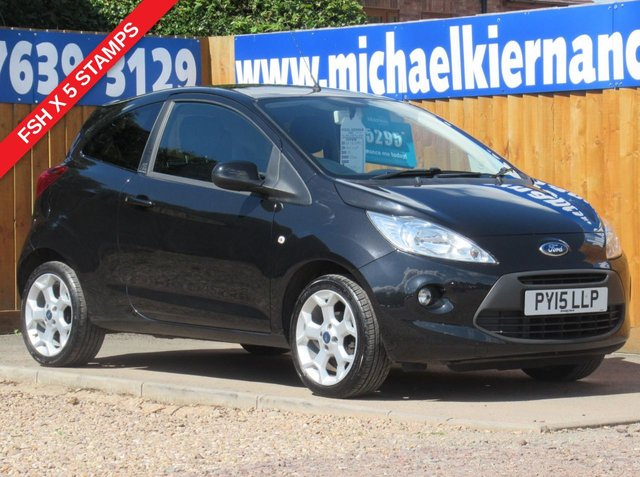 USED 2015 15 FORD KA 1.2 ZETEC 3d 69 BHP LOVELY CAR