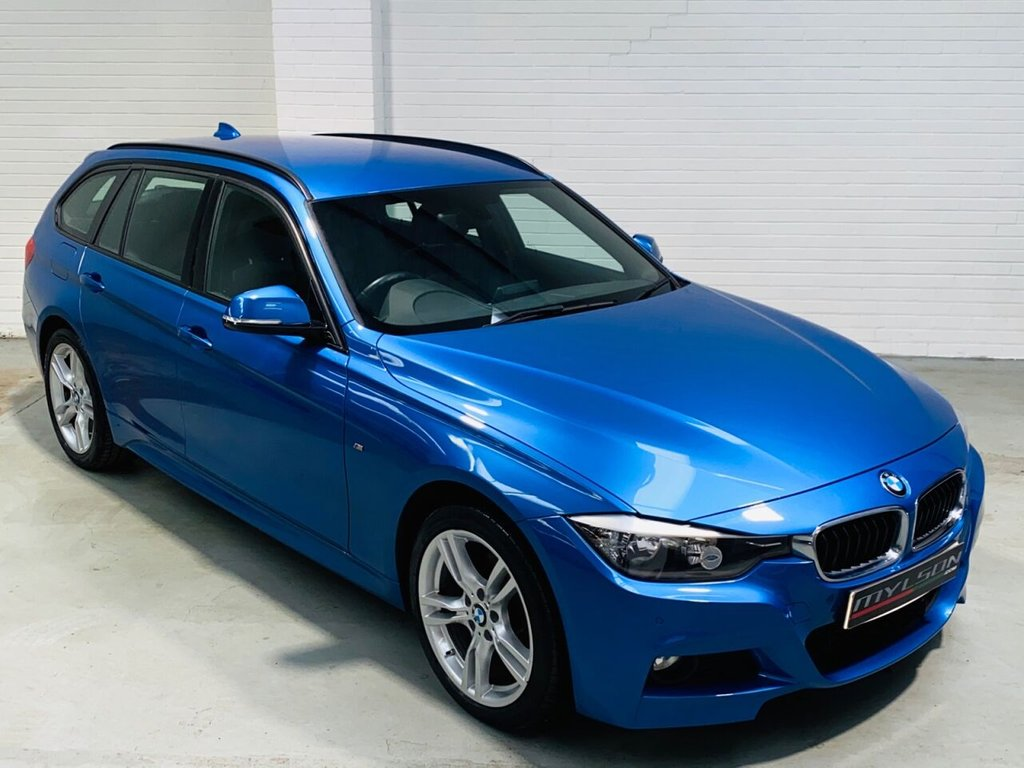 USED 2015 15 BMW 3 SERIES 2.0 320D XDRIVE M SPORT TOURING 5d 181 BHP Full Black Leather Interior, Heated Seats, Sat Nav/Media with Bluetooth