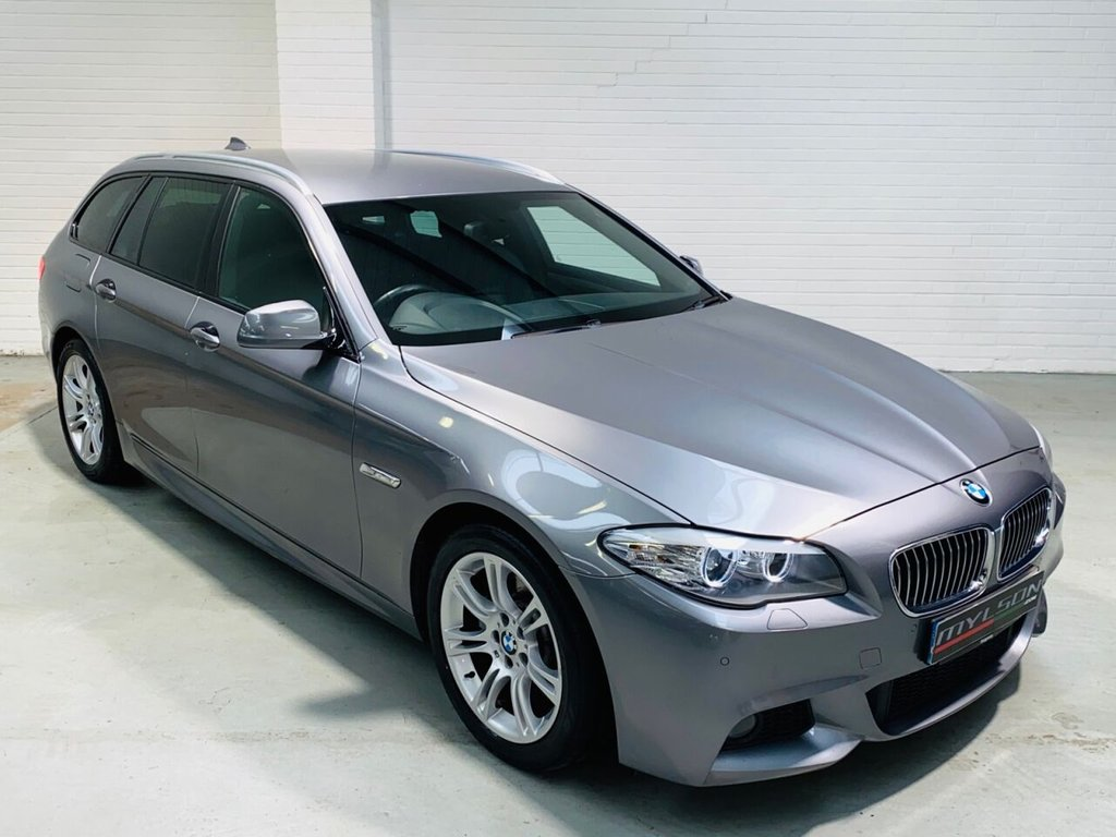 USED 2012 62 BMW 5 SERIES 2.0 520D M SPORT TOURING 5d 181 BHP Space Grey with Black Leather, Sat Nav, Heated Seats, Privacy Glass