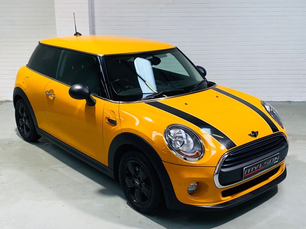 USED 2014 MINI HATCH ONE 1.2 ONE 3d 101 BHP Stunning Volcanic Orange with Black Cooper Stripes, Black Wheels, Privacy Glass