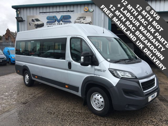 USED 2015 15 PEUGEOT BOXER 2.2 HDI  L4 H2 17 SEAT MINIBUS WHEELCHAIR ACCESS LOW 18K MILES