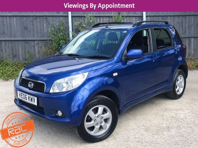 USED 2006 06 DAIHATSU TERIOS 1.5 SE 5d 104 BHP AUTOMATIC, 4X4 4WD, VERY LOW MILEAGE. PX AND DELIVERY A PLEASURE