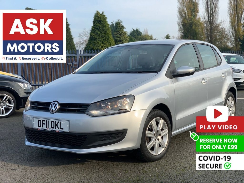 USED 2011 11 VOLKSWAGEN POLO 1.4 SE 5d 85 BHP 1 REG KEEPER 9 VW SERVICE STAMPS