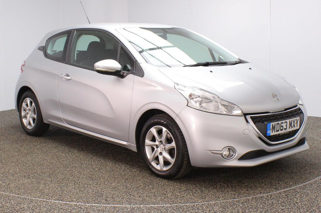 USED 2014 63 PEUGEOT 208 1.4 HDI ACTIVE 3DR 68 BHP FULL SERVICE HISTORY + FREE 12 MONTHS ROAD TAX + BLUETOOTH + CRUISE CONTROL + MULTI FUNCTION WHEEL + AIR CONDITIONING + DAB RADIO + RADIO/AUX/USB + ELECTRIC WINDOWS + ELECTRIC MIRRORS + 15 INCH ALLOY WHEELS