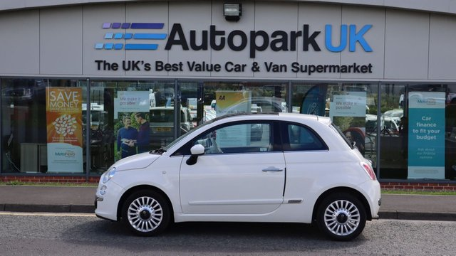 USED 2010 60 FIAT 500 1.2 LOUNGE 3d 69 BHP LOW DEPOSIT OR NO DEPOSIT FINANCE AVAILABLE .  . USABILITY INSPECTED WITH WARRANTY + LOW COST EXTENDED PERIOD WARRANTIES AVAILABLE . WE'RE ALWAYS DRIVING DOWN THE PRICE OF MOTORING .