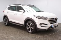 USED 2016 16 HYUNDAI TUCSON 2.0 CRDI PREMIUM SE BLUE DRIVE 5DR 1 OWNER 134 BHP FULL SERVICE HISTORY + HEATED/COOLED LEATHER SEATS + HEATED REAR SEATS + SATELLITE NAVIGATION + PANORAMIC ROOF + REVERSE CAMERA + PARKING SENSOR + BLUETOOTH + CRUISE CONTROL + CLIMATE CONTROL + MULTI FUNCTION WHEEL + HEATED STEERING WHEEL + LANE ASSIST SYSTEM + BLIND SPOT MONITORING + PRIVACY GLASS + DAB RADIO + ELECTRIC FRONT SEATS + ELECTRIC WINDOWS + ELECTRIC/HEATED/FOLDING DOOR MIRRORS + 19 INCH ALLOY WHEELS