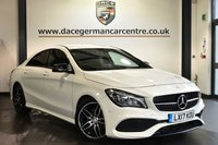 """USED 2017 17 MERCEDES-BENZ CLA 1.6 CLA 180 AMG LINE 4DR 121 BHP Finished in a stunning calcite white styled with 18"""" alloys. Upon opening the drivers door you are presented with half leather interior, full service history, satellite navigation, bluetooth, smartphone intgration package, cruise control, attention assist, rain sensors, multi functional steering wheel, AMG styling package, automatic climate control, active park assist"""