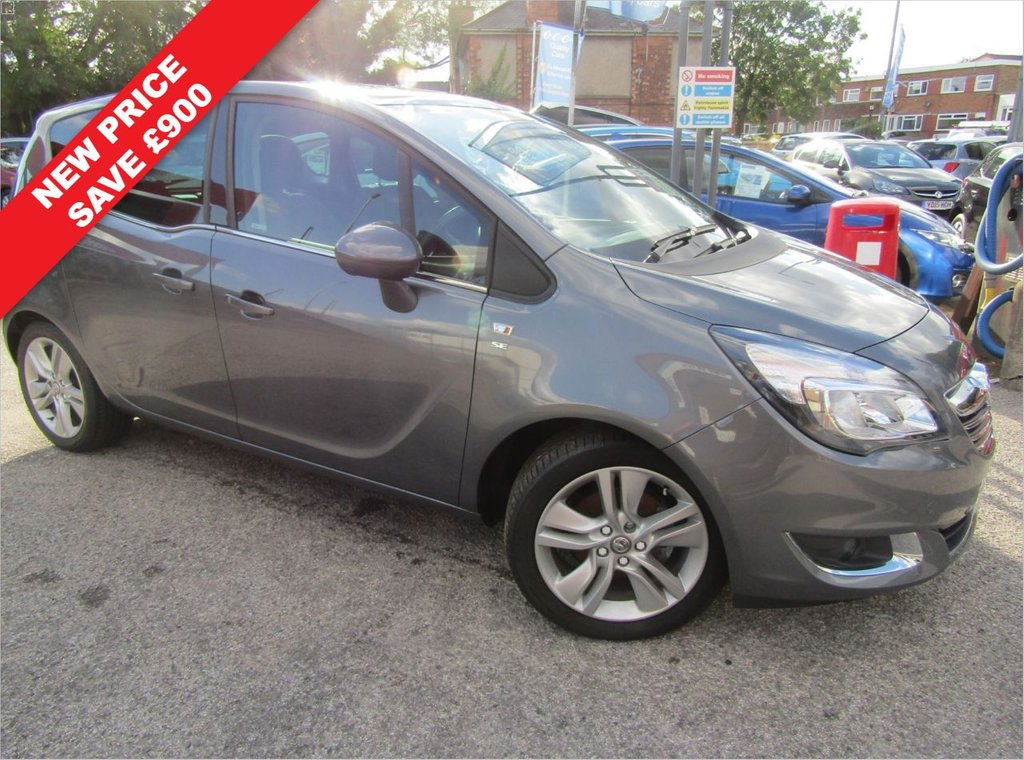 USED 2017 17 VAUXHALL MERIVA 1.4 SE 5d 118 BHP ** New lower price save £££**   Wow immaculate ** lowest miles ** panoramic roof ** Half leather seats ** One owner**Best condition **Service history ** Part Exchange welcome ** Low rate PCP ** Click & Collect or Click & deliver ** Buy locally value checked