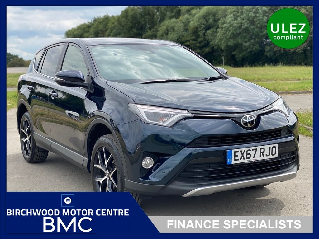 USED 2017 67 TOYOTA RAV4 2.0 D-4D ICON TSS 5d 143 BHP, Ulez Compliant, 1 OWNER, FULL SERVICE HISTORY, SAT NAV, BLUETOOTH, HALF LEATHER+HEATED SEATS, CRUISE CONTROL, IMMACULATE THROUGHOUT