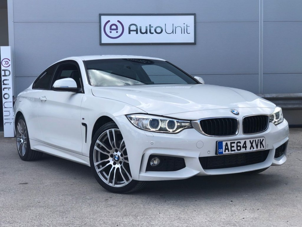 USED 2014 64 BMW 4 SERIES 2.0 420D XDRIVE M SPORT 2d 181 BHP FULL BMW SERVICE HISTORY | DAB | LEATHER | DIAMOND CUT ALLOYS | DUAL CLIMATE