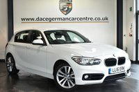 "USED 2016 16 BMW 1 SERIES 2.0 118D SPORT 5DR AUTO 147 BHP Finished in a stunning alpine white styled with 17"" alloys. Upon opening the drivers door you are presented with anthraicte upholstery, full service history, satellite navigation, bluetooth, DAB radio, cruise control, Automatic air conditioning, Multifunction steering wheel, Rain sensors, parking sensors"