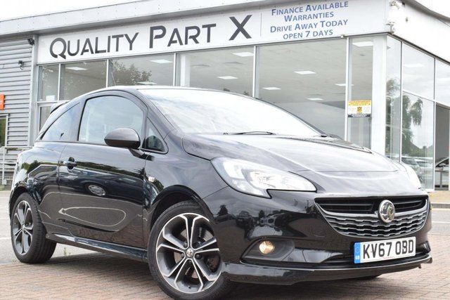 USED 2017 67 VAUXHALL CORSA 1.4i Turbo Black Edition (s/s) 3dr 1OWNER, SENSORS,DAB, HPI CLEAR