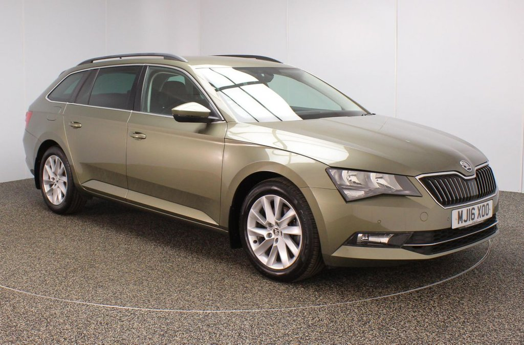 USED 2016 16 SKODA SUPERB 2.0 SE BUSINESS TDI 5DR 148 BHP FULL SERVICE HISTORY + £20 12 MONTHS ROAD TAX + HALF LEATHER SEATS + SATELLITE NAVIGATION + PARKING SENSOR + BLUETOOTH + CRUISE CONTROL + CLIMATE CONTROL + MULTI FUNCTION WHEEL + DAB RADIO + PRIVACY GLASS + ELECTRIC/MEMORY FRONT SEATS + ELECTRIC WINDOWS + ELECTRIC/HEATED/FOLDING DOOR MIRRORS + 17 INCH ALLOY WHEELS