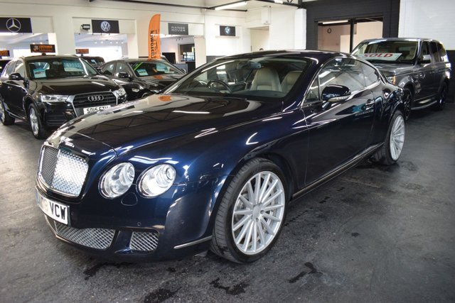 USED 2008 08 BENTLEY CONTINENTAL GT 6.0 GT 2d 553 BHP - FACELIFT CAR STUNNING CONDITION - DARK SAPPHIRE PEARL - IVORY LEATHER - 2008 FACELIFT - 12 BENTLEY STAMPS TO 48K MILES  - POWERBOOT - 21 INCH NESSEN ALLOY WHEELS