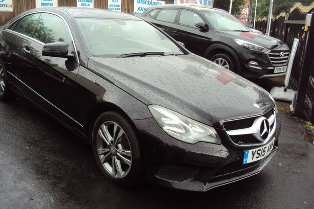 "USED 2015 15 MERCEDES-BENZ E-CLASS 2.1 E220 BLUETEC SE 2d 174 BHP 1 FORMER KEEPER+2 KEYS+CLIMATE CONTROL+PARKING SENSORS+NAVIGATION+BLUETOOTH+DAB+USB+AUXILIARY+MEDIA+LEATHER SEATS+17"" ALLOY WHEELS+"