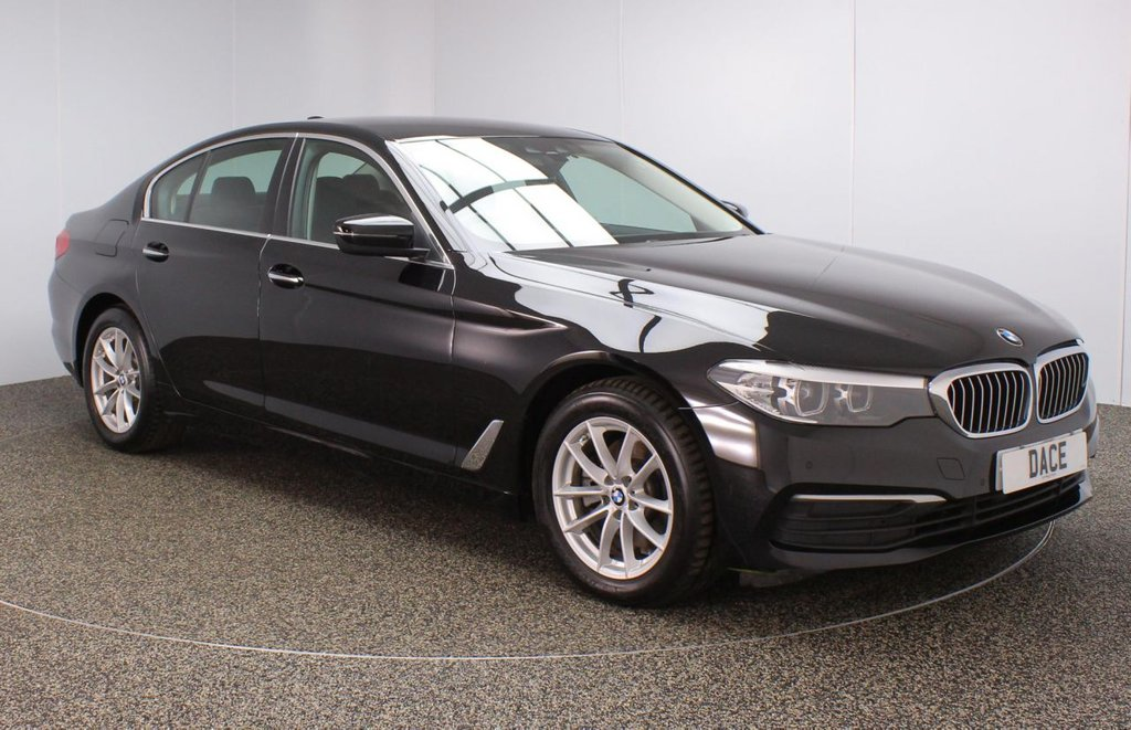 USED 2018 67 BMW 5 SERIES 2.0 520D XDRIVE SE 4DR 1 OWNER AUTO 188 BHP FULL BMW SERVICE HISTORY + HEATED LEATHER SEATS + SATELLITE NAVIGATION PROFESSIONAL + HEAD-UP DISPLAY + PARKING SENSOR + BLUETOOTH + CRUISE CONTROL + CLIMATE CONTROL + MULTI FUNCTION WHEEL + XENON HEADLIGHTS + ELECTRIC FRONT SEATS + DAB RADIO + ELECTRIC WINDOWS + ELECTRIC MIRRORS + 18 INCH ALLOY WHEELS