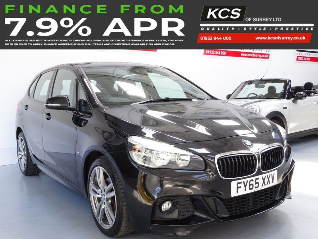 USED 2015 65 BMW 2 SERIES 1.5 216D M SPORT ACTIVE TOURER 5d 114 BHP SAT NAV - FULL LEATHER