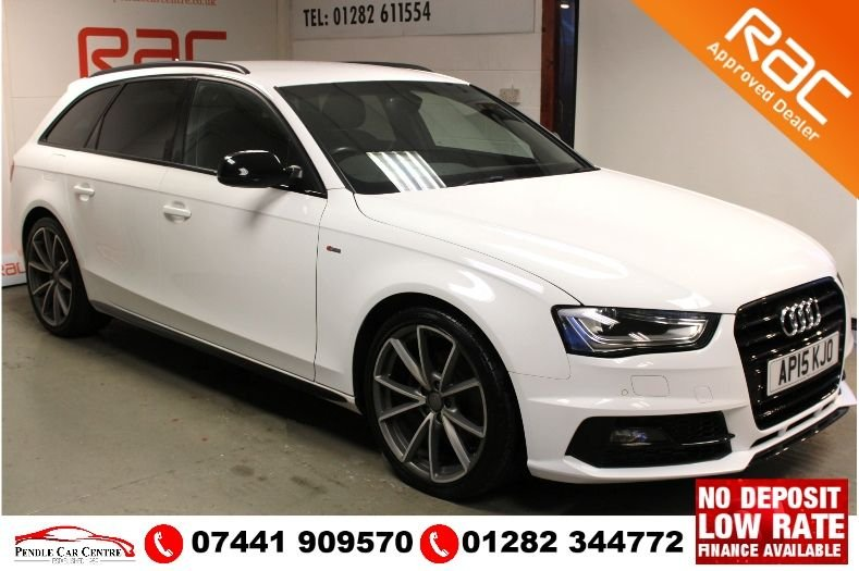 "USED 2015 15 AUDI A4 2.0 AVANT TDI BLACK EDITION NAV 5d 148 BHP RAC Approved - £600 19"" Alloy Wheels Upgrade - FSH"