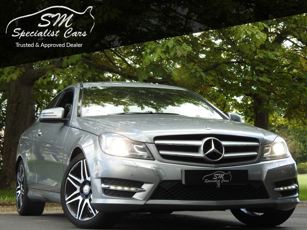 USED 2013 13 MERCEDES-BENZ C-CLASS 2.1 C250 CDI BLUEEFFICIENCY AMG SPORT 2d 204 BHP 116K FSH LEATHER 50 MPG VGC