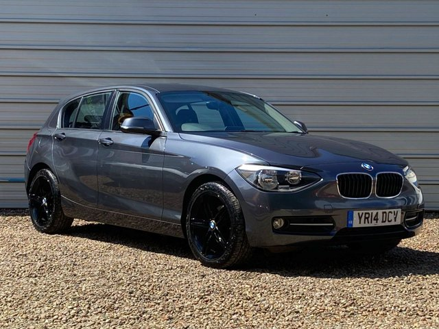 USED 2014 14 BMW 1 SERIES 2.0 116D SPORT 5d 114 BHP Mineral Grey with Black Alloys