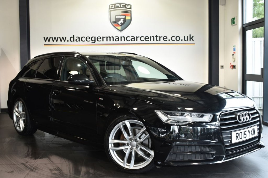 """USED 2015 15 AUDI A6 AVANT 2.0 TDI ULTRA BLACK EDITION 5DR 188 BHP Finished in a stunning black styled with 20"""" alloys. Upon opening the drivers door you are presented with full leather interior, full service history, satellite navigation, bluetooth, heated seats, cruise control, BOSE speakers, DAB radio, multi functional steering wheel, heated mirrors, privacy glass, parking sensors"""