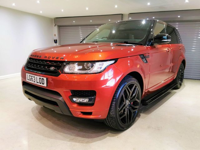 """USED 2013 63 LAND ROVER RANGE ROVER SPORT 3.0 SDV6 AUTOBIOGRAPHY DYNAMIC 5d 288 BHP STEALTH PACK + 22"""" BLACK ALLOY WHEELS + PRIVACY GLASS"""