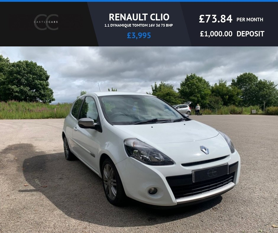 USED 2012 62 RENAULT CLIO 1.1 DYNAMIQUE TOMTOM 16V 3d 75 BHP Low Mileage!
