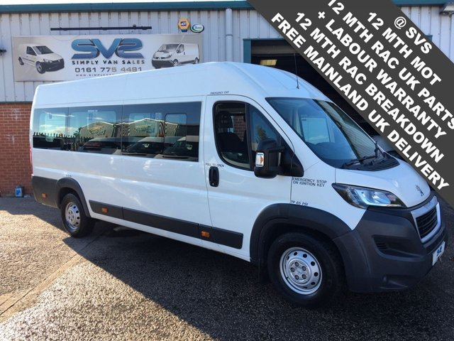 USED 2015 15 PEUGEOT BOXER 2.2 HDI 440 L4H2 17 SEAT WHEELCHAIR ACCESS MINIBUS TINY 16K MILES *FSH*