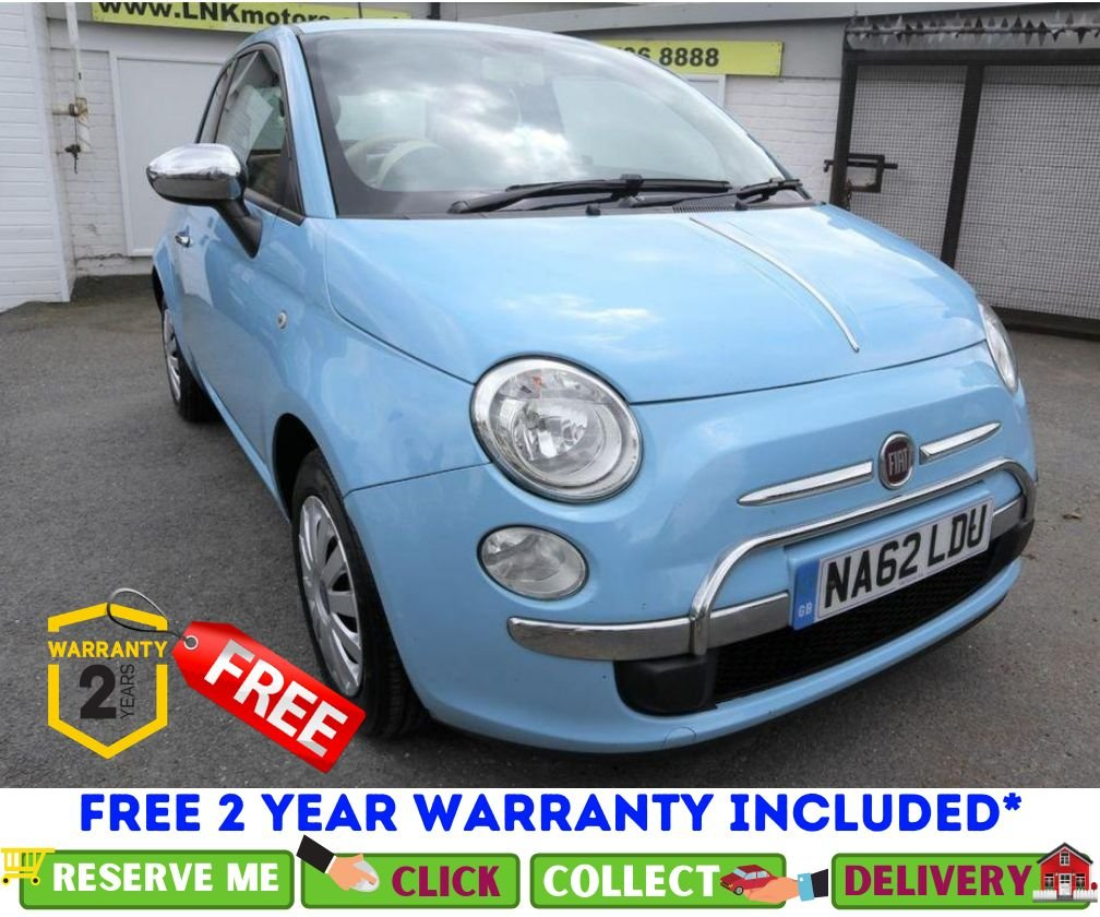 USED 2012 62 FIAT 500 1.2 POP 3d 69 BHP *CLICK & COLLECT OR DELIVERY