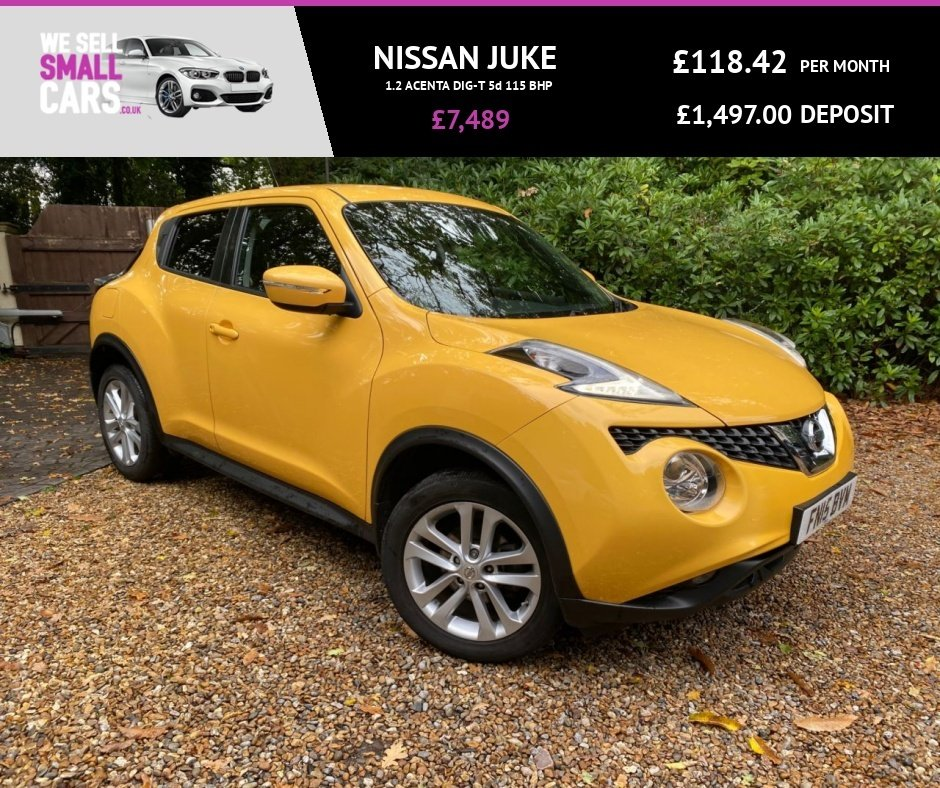 USED 2015 15 NISSAN JUKE 1.2 ACENTA DIG-T 5d 115 BHP STUNNING COLOUR LOW MILES FSH BLUETOOTH CRUISE & CLIMATE CONTROL