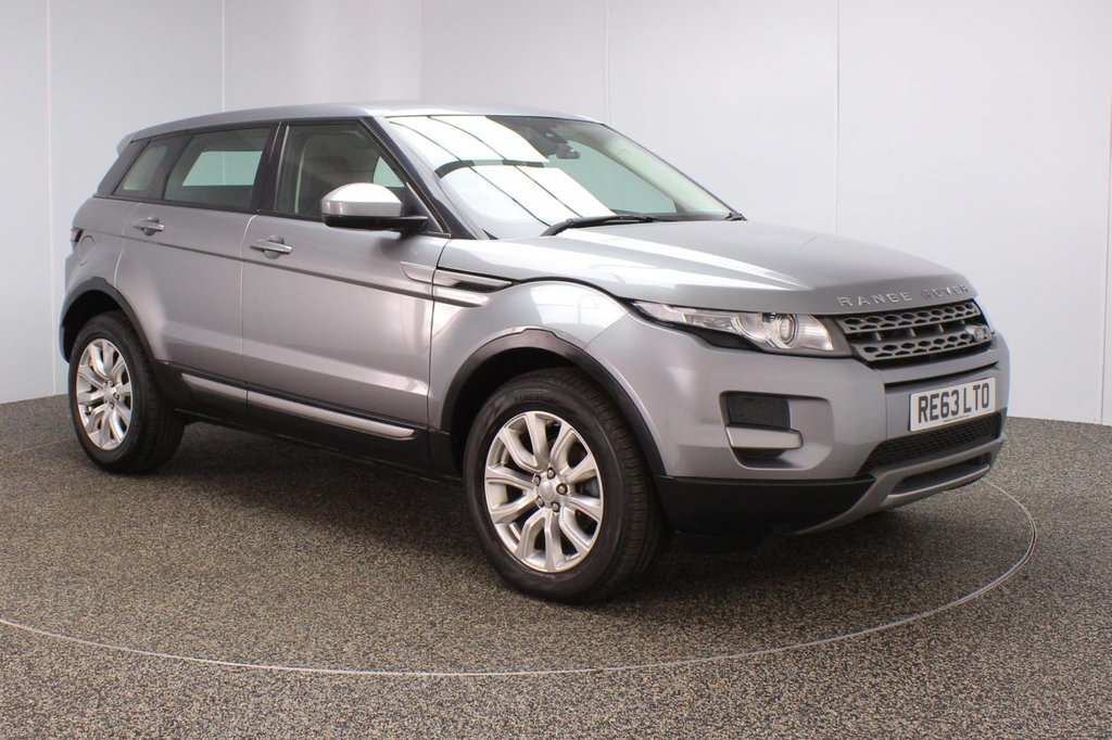 USED 2014 63 LAND ROVER RANGE ROVER EVOQUE 2.2 SD4 PURE 5DR 190 BHP SERVICE HISTORY + HEATED LEATHER SEATS + PARKING SENSOR + BLUETOOTH + CRUISE CONTROL + CLIMATE CONTROL + MULTI FUNCTION WHEEL + DAB RADIO + XENON HEADLIGHTS + RADIO/CD/AUX/USB + MERIDIAN PREMIUM SPEAKERS + ELECTRIC WINDOWS + ELECTRIC MIRRORS + 18 INCH ALLOY WHEELS