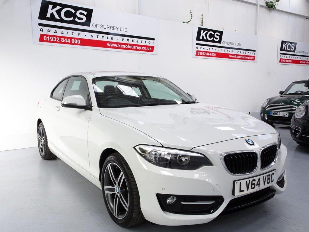 USED 2014 64 BMW 2 SERIES 2.0 218D SPORT 2d 141 BHP LOW MILES - PARKING SENSORS