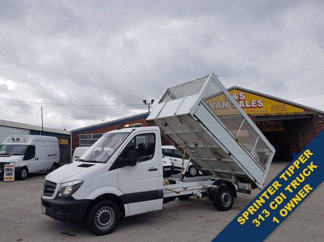 USED 2015 15 MERCEDES-BENZ SPRINTER TIPPER ALLOY BODY + CAGED 1 OWNER BENZS DIRECT (((( LOTS MORE VANS IN STOCK OVER 100 ON SITE )))