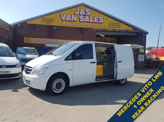 USED 2013 13 MERCEDES-BENZ VITO  113 CDI BLUEEFFICIENCY 136 BHP C/BUMPER+ RACKING (((( LOTS MORE VANS IN STOCK OVER 100 ON SITE )))