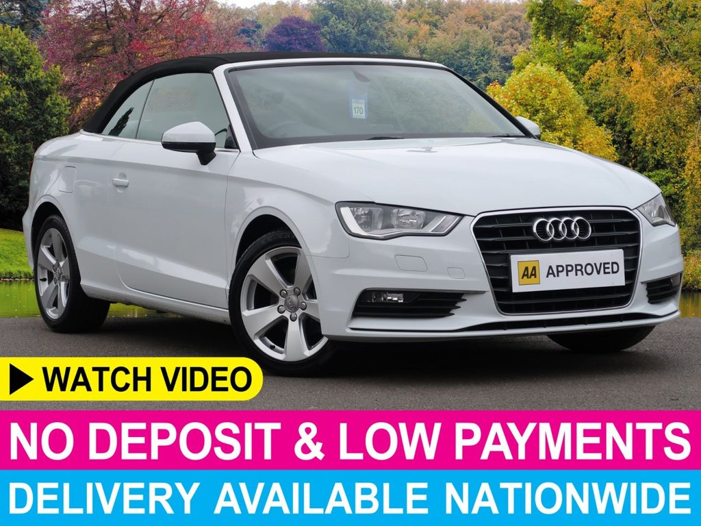 USED 2015 15 AUDI A3 1.4 TFSI CoD SPORT CONVERTIBLE 2DR ELECTRIC CONVERTIBLE ROOF