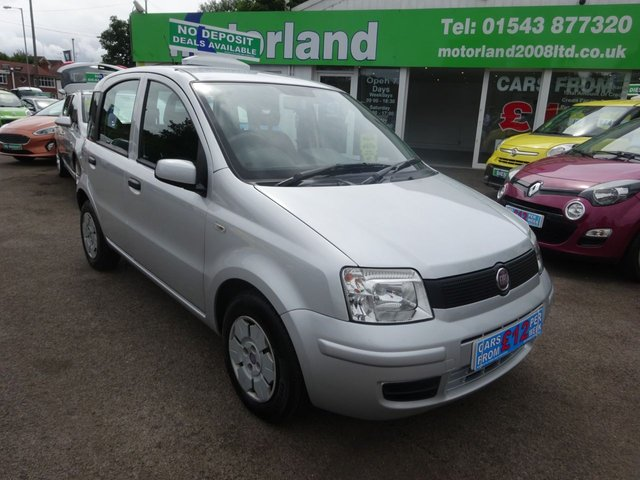 USED 2008 58 FIAT PANDA 1.1 ACTIVE 5d 54 BHP CALL 01543 877320... 12 MONTHS MOT... 6 MONTHS WARRANTY... JUST ARRIVED