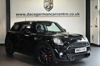 """USED 2014 64 MINI HATCH COOPER 2.0 COOPER S [CHILI PACK] 3DR AUTO 189 BHP Finished in a stunning midnight metallic black styled with 17"""" alloys. Upon opening the drivers door you are presented with half leather interior, full service history, bluetooth, DAB radio, cruise control, John Cooper Works leather steering wheel, sport seats, MINI Excitement package, MINI Driving Modes, rain sensors, light package, Automatic air conditioning"""