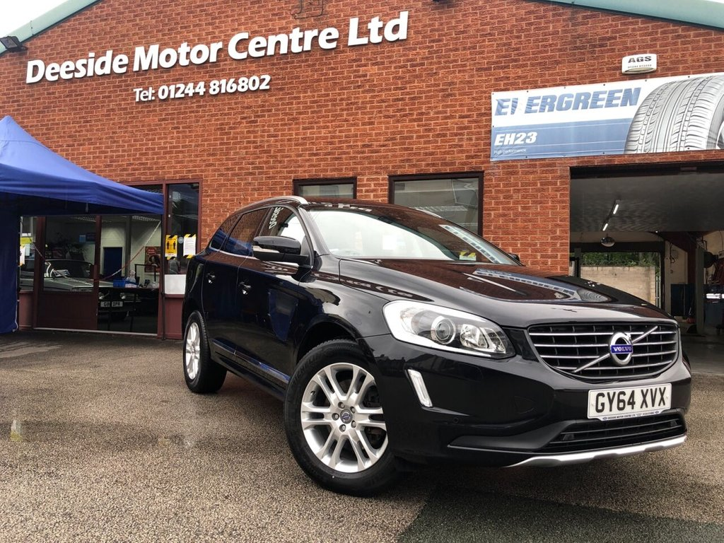 USED 2014 64 VOLVO XC60 2.4 D5 SE LUX NAV AWD 5d 212 BHP Full service history : Bluetooth  :  Sat Nav :  DAB Radio  :  Wi-Fi  :  Full leather upholstery  :  Heated front seats : Electric driver's seat : Isofix fittings : Heated screen : Air-conditioning/Climate control : Remotely operated tailgate : Front and rear parking sensors