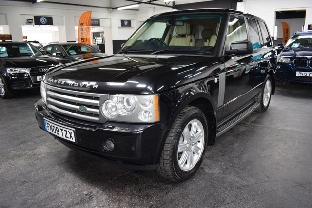 USED 2009 09 LAND ROVER RANGE ROVER 3.6 TDV8 VOGUE 5d 272 BHP LOVELY CONDITION - 11 STAMPS TO 95K - IVORY LEATHER - NAV - HEATED SEATS - REAR DVD SCREENS - F/R PDC - R/CAMERA