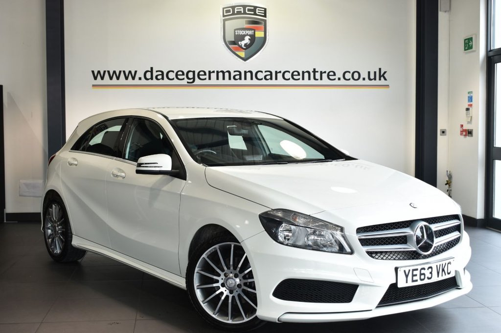 "USED 2013 63 MERCEDES-BENZ A-CLASS 1.5 A180 CDI BLUEEFFICIENCY AMG SPORT 5DR 109 BHP Finished in a stunning calcite white styled with 18"" alloys. Upon opening the drivers door you are presented with half leather interior, full service history, bluetooth, cruise control, rain sensors, multi functional steerig wheel, attention assist, AMG styling package"