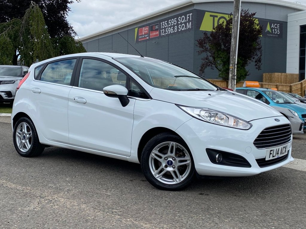 USED 2014 14 FORD FIESTA 1.2 ZETEC 5d 81 BHP £30 ROAD TAX, AIR CONDITIONING
