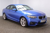 USED 2015 65 BMW 2 SERIES 2.0 220D M SPORT 2DR 1 OWNER AUTO 188 BHP FULL BMW SERVICE HISTORY + £20 12 MONTHS ROAD TAX + SATELLITE NAVIGATION + PARKING SENSOR + BLUETOOTH + CRUISE CONTROL + CLIMATE CONTROL + MULTI FUNCTION WHEEL + DAB RADIO + RADIO/CD/AUX/USB + ELECTRIC WINDOWS + ELECTRIC/HEATED DOOR MIRRORS + 18 INCH ALLOY WHEELS