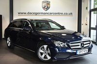 "USED 2017 17 MERCEDES-BENZ E-CLASS 2.0 E 200 D SE  5DR AUTO 148 BHP Finished in a stunning cavansite metallic blue styled with 17"" alloys. Upon opening the drivers door you are presented with full leather interior, full service history, satellite navigation, bluetooth, reversing camera, heated seats, cruise control, DAB radio, ambient lighting, mirror package, active park assist"