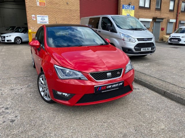 2013 13 SEAT IBIZA 1.6 CR TDI FR 3d 104 BHP A RARE PAN ROOF MODEL LED LIGHTS SAT NAV  RESERVED FOR LIAM